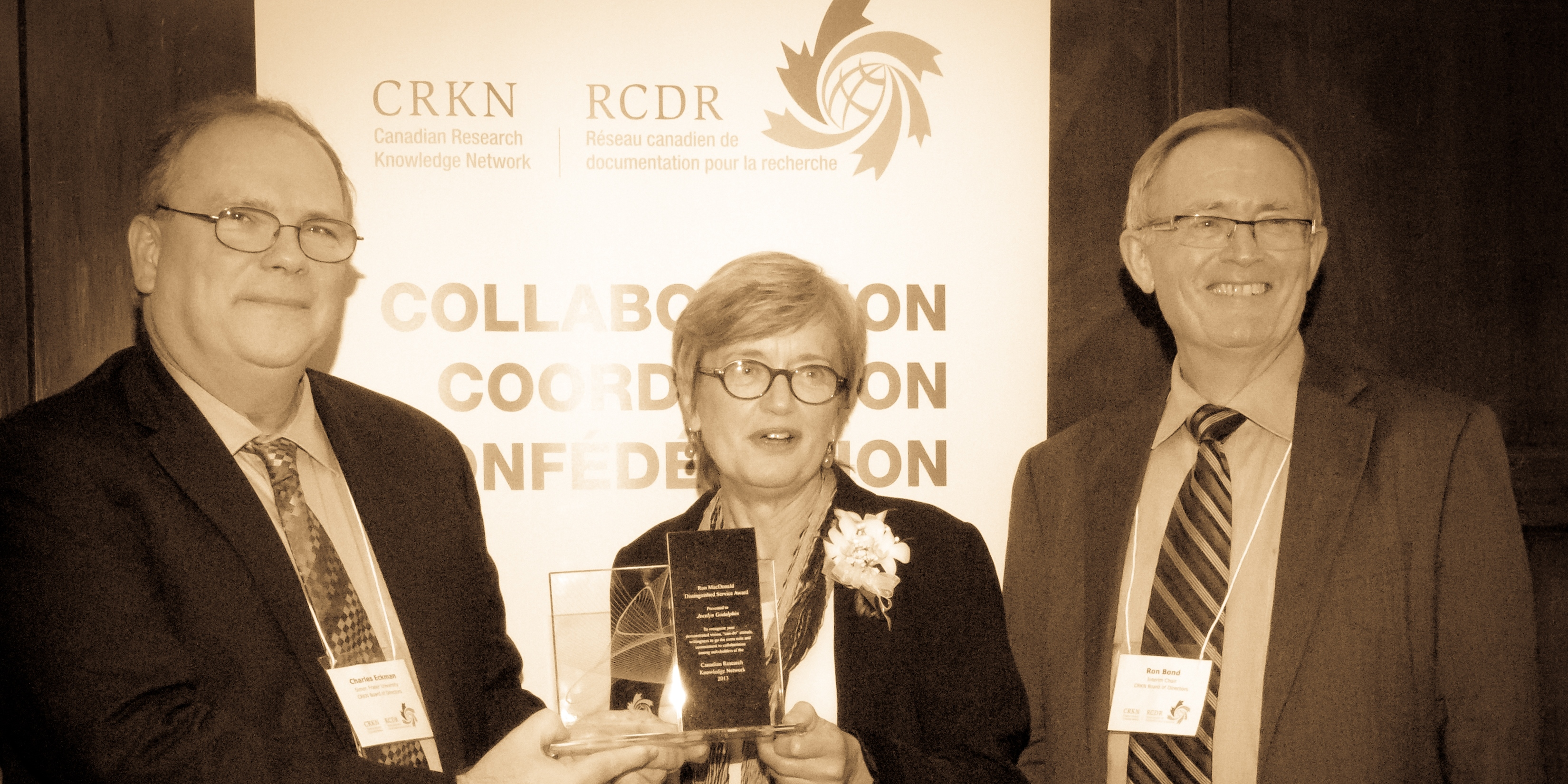 Chuck Eckman, Jocelyn Godolphin and Ron Bond at the 2013 AGM in Toronto